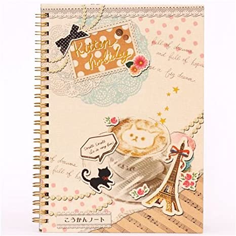 Libreta de amigos anillas diario cuaderno torre Eiffel gato: Amazon.es: Juguetes y juegos