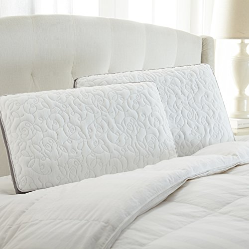 Perfect Cloud Double Airflow Memory Foam Pillow by Featuring Cooling Ventilated Visco Foam Core and Mesh Trim for a Refreshing Sleeping Experience