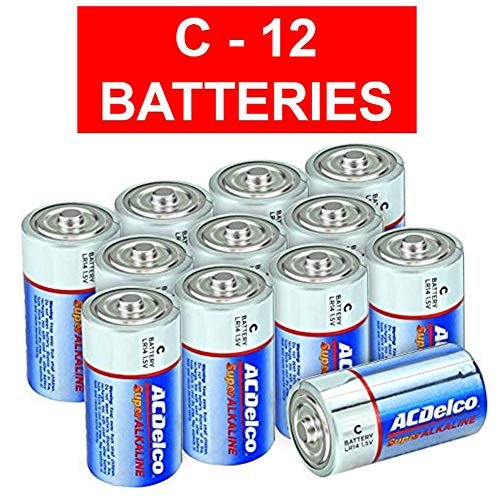 ACDelco C Super Alkaline Batteries, 12-Count