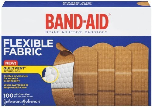 (Band-Aid Adhesive Bandages, Flexible Fabric, All One Size 1