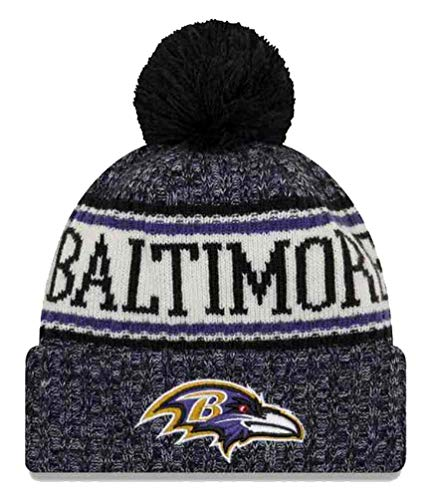 f502ab84f20 New Era Baltimore Ravens NFL 18 Sideline Sport Knit Hat Black/Purple/White  Size One Size