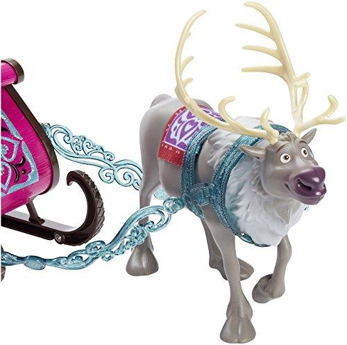 Mattel CMG64 Disney Princess Fashion Dolls and Accessories Frozen Sven and Sleigh Gift Set Mattel Disney Princess