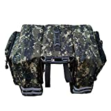 Chartsea Bike Pannier Bag, Bicycle Rear Seat Trunk Bag Waterproof Nylon Carrier Rack Bag Multi Function Luggage Bag for Cycling Travel (B)