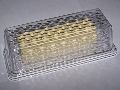 new-economy-clear-plastic-textured-single-stick-butter-dish