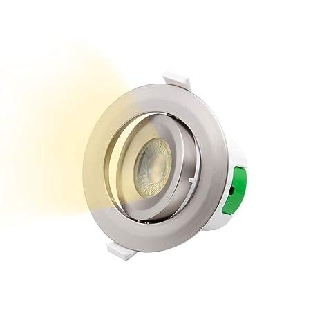 Lampara Plafon Foco Downlight de LED Empotrar Giratorio para ...