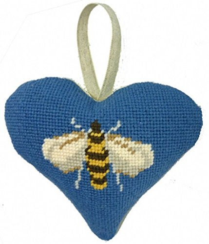Cleopatras needle Bee Lavender Heart Tapestry Kit