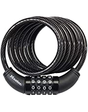 Master Lock Cable Lock, Set Your Own Combination Bike Lock, 6 ft. Long, 8114D
