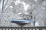 Birds Choice Black Deck-Mount Heated Bird Bath