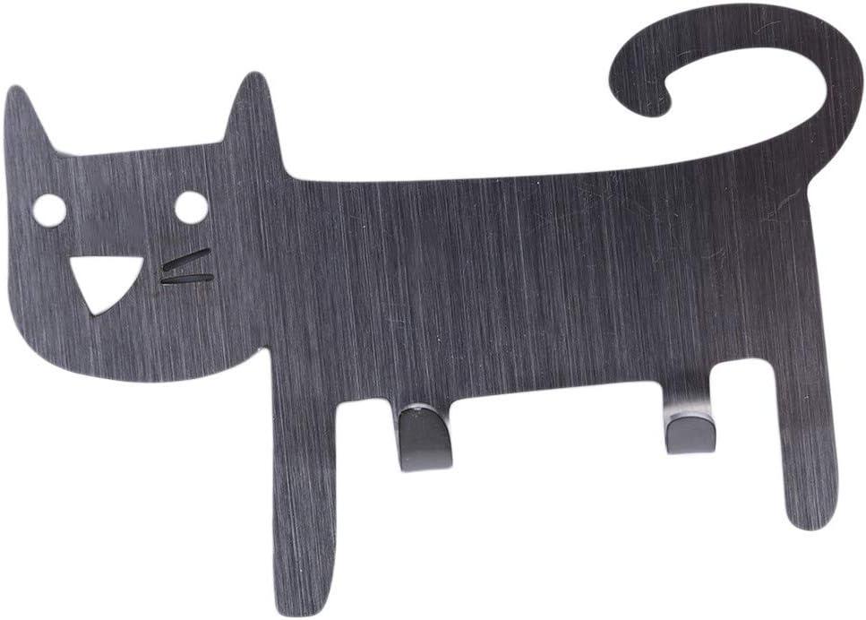 SEVENHOPE Gato de Hierro Pared Perchas Gancho decoración para ...