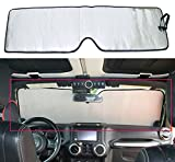 jeep windshield sun shade - Bolaxin Windshield Sunshade Sun shade for Jeep Wrangler JK 2007-2017