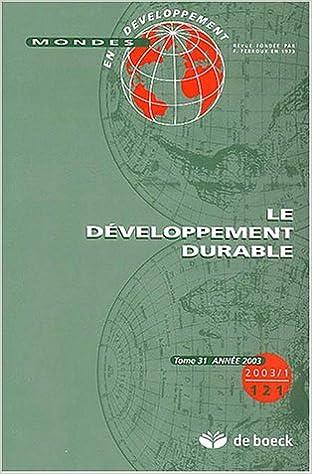 Livre gratuits en ligne Le developpement durable pdf, epub