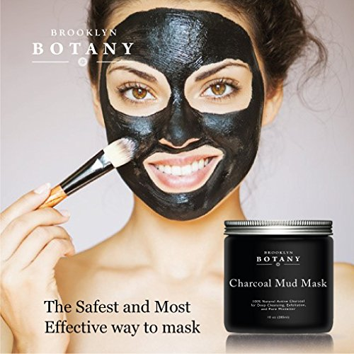 Create Your Own Active Charcoal Skin Purifying Face Mask: Activated Charcoal Mud Mask + FREE Facial Brush