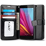 Huawei Honor 5X Case, J&D [Wallet Stand] Huawei Honor 5X Wallet Case Heavy Duty Protective Shock Resistant Case for Honor 5X - Black