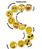 Emoji Fridge Magnets for Whiteboard- 3 Inch 12 Pack