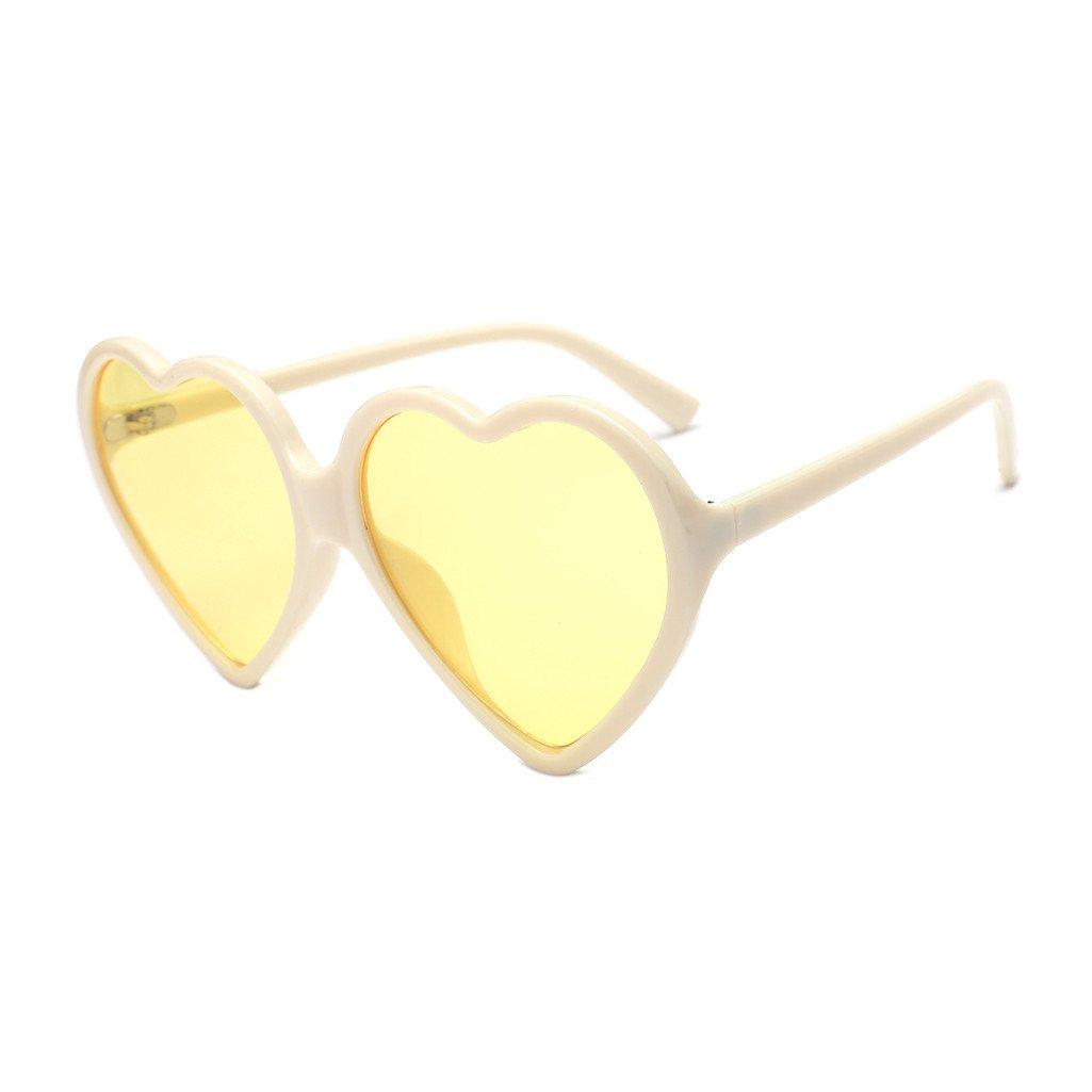 Gafas de sol unisex para mujer con forma de corazón con lentes UV Holatee Holatee-7010
