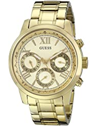 GUESS Womens Stainless Steel Classic Bracelet Watch, Color: Gold-Tone (Model: U0330L1)