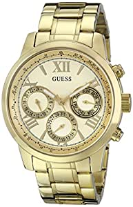 GUESS Women's Stainless Steel Classic Bracelet Watch, Color: Gold-Tone (Model: U0330L1)