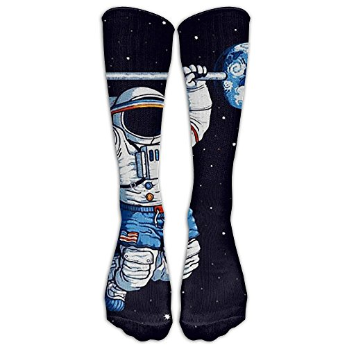 (HUE Universe Weightlifting Men Women Novelty Long Socks Cotton Socks Multicolored Pattern Stockings )