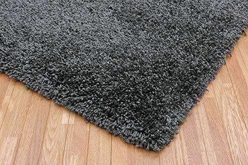 ボリュームたっぷり 毛足約40mm ふわふわラグ 日本製 絨毯 約190×240cm ダークグレー p-jupiter-190240 プレーベル prevell ラグ ラグマット ナイロン シンプル 防ダニ 抗菌 遊び毛が出にくい gray 灰色 はいいろ 約190×240cm 02:ダークグレー B07S4G55MY