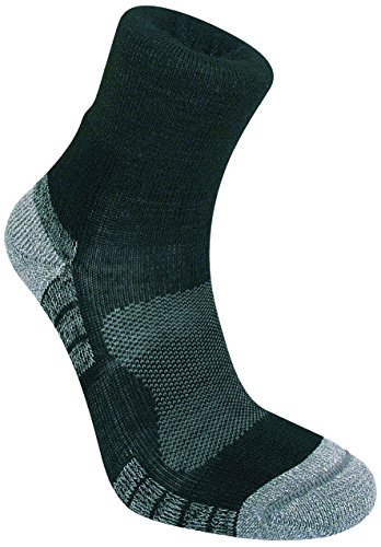 Bridgedale Men's Trail Light Socks, Black/Silver, Large ()