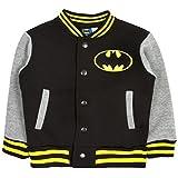 Childrens Kids Boys Batman Superman Baseball Jacket Coat Superhero ...