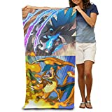 Adult Pokemon Go Charmander Charizard Absorbent Quick Dry Pool Bath Travel Beach Towel Blank Blanket Extra Large Long 80cm*130cm 31.5in*51.2in