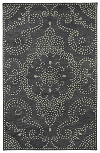 Hand Tufted Charcoal (Kaleen ROA02-38-9613 Rosaic Collection Hand Tufted Rug, 9'6