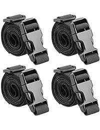 """40"""" Strap Buckle Packing Straps Adjustable 1-Inch Belt (1"""" Wide - 40"""" Long, Black (4 PCS))"""