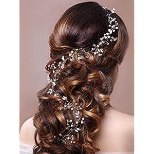 Unicra Wedding Headpiece Decorative Bridal Headband Hair Vine Hair Piece Accessories for Brides and Bridesmaids(19.7…