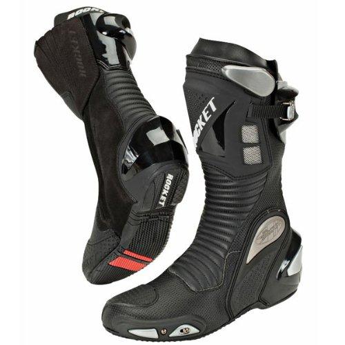 Joe Rocket Speedmaster 3.0 Men's Leather Race Boots (Black, Size (Joe Rocket Speedmaster Leather)