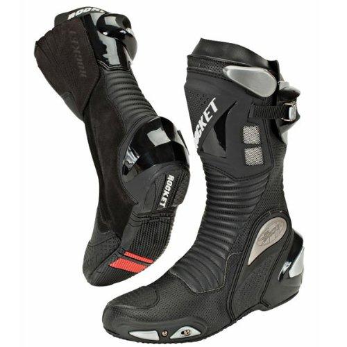 er 3.0 Men's Leather Race Boots (Black, Size 9.5) (Magnesium Toe Slider)