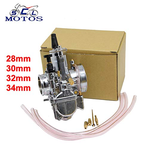 (| Carburetor | Sclmotos |Motorcycle Carburetor 28 30 32 34mm PWK OKO Carb with Power Jet Fit Race Scooter ATV Racing for 4T Engine Power | by HUDITOOLS | 1 PCs)