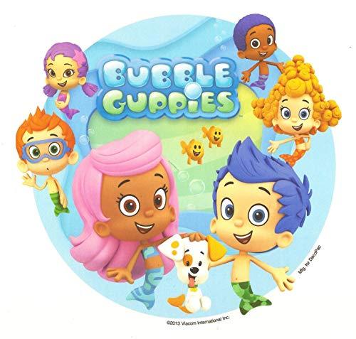 Bubble Guppies Logo Dog Fish Edible Cake Topper Image ABPID03228 - 6