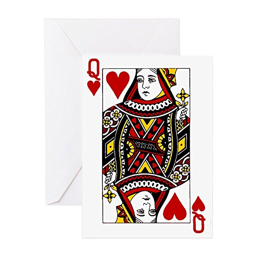 CafePress - Queen Of Hearts - Greeting Card, Note Card, Birthday Card, Blank Inside Glossy