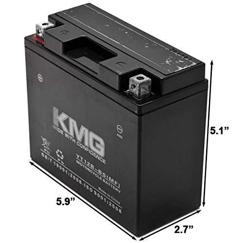 KMG Yamaha 650 XVS650 V-Star All 1998-2011 YT12B-BS Sealed Maintenace Free Battery High Performance 12V SMF OEM Replacement Maintenance Free Powersport Motorcycle ATV Scooter Snowmobile KMG by KMG (Image #2)
