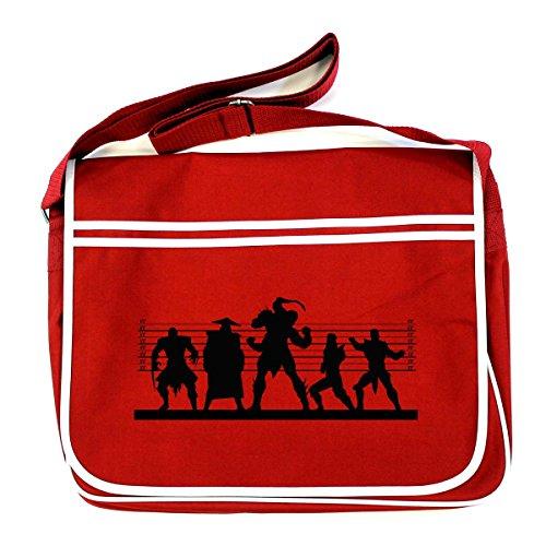 Mk Kombat Retro Messenger Bag Suspects Mortal Red P54Bq