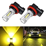 yellow h11 fog lights - Carr Lighting 2000 Lumens Super Bright 3030 16-SMD H11 H8 H16 H11LL H8LL LED Bulbs Gold Yellow for Fog Light or DRL Daytime Driving Lamps Replacement
