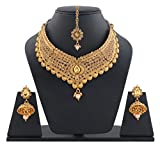 Best Valentine Collection: Sitashi Ethenic Gold Plated Wedding antique kundan Necklace Set/Artificial Jewellery For Women