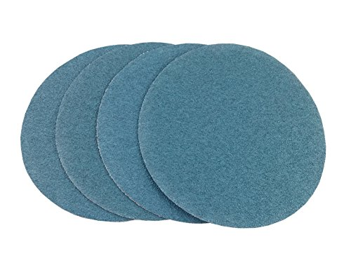 6'' Blue Zirconia Cloth Hook and Loop Sanding Discs (50 Pack, 80 Grit) by Perfect Sanding Supply by Abrasive Resource