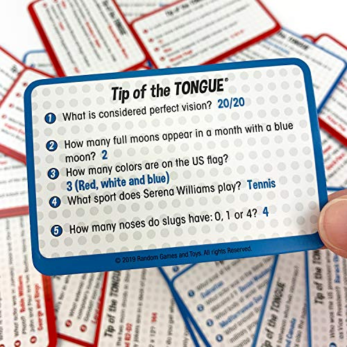 Tip of The Tongue, The Split S Trivia Party Game, How Fast Can You Spit Out Answers, for 2 to 6 Players, Ages 12 & Up (Renewed)