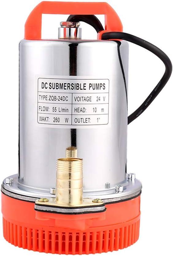 SHYLIYU Bombas de agua sumergibles 24V DC 260W Bombas solares adecuadas para bombear agua limpia/sucia, piscinas, bodegas inundadas
