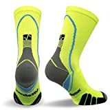 Vitalsox VT5810 Italian Support & Odor Control Crew Socks (1 pair- fitted) Best For Running, Travel, Yoga, Gym, Basketball, Sports Yellow, Large