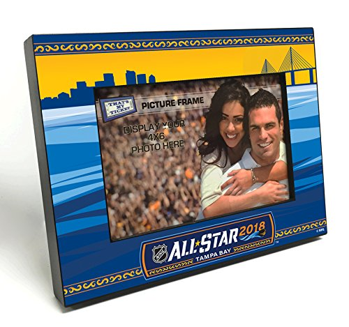 2018 NHL All-Star Game Black Wood Edge 4x6 inch Picture Frame - Tampa Bay (All Star Edge)