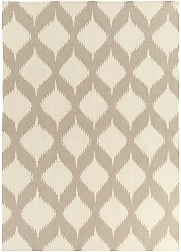 Surya Frontier FT-513 Hand Woven 100-Percent Wool Ikat and Suzani Area Rug, 8-Feet by 11-Feet