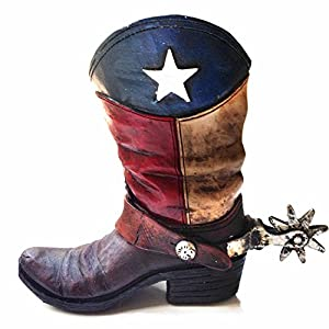 Amazon.com : Texas Lone Star Cowboy Boot with Spur Piggy Bank for ...