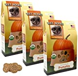Wet Noses Organic Usa Made All Natural Dog Treats, Pumpkin, 3 Pack Review