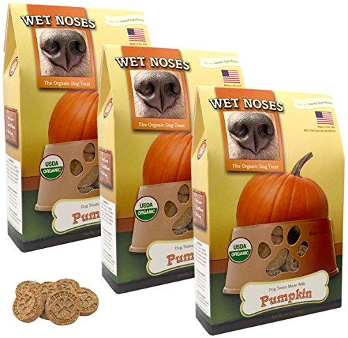 Wet Noses Organic Usa Made All Natural Dog Treats, Pumpkin, 3 Pack