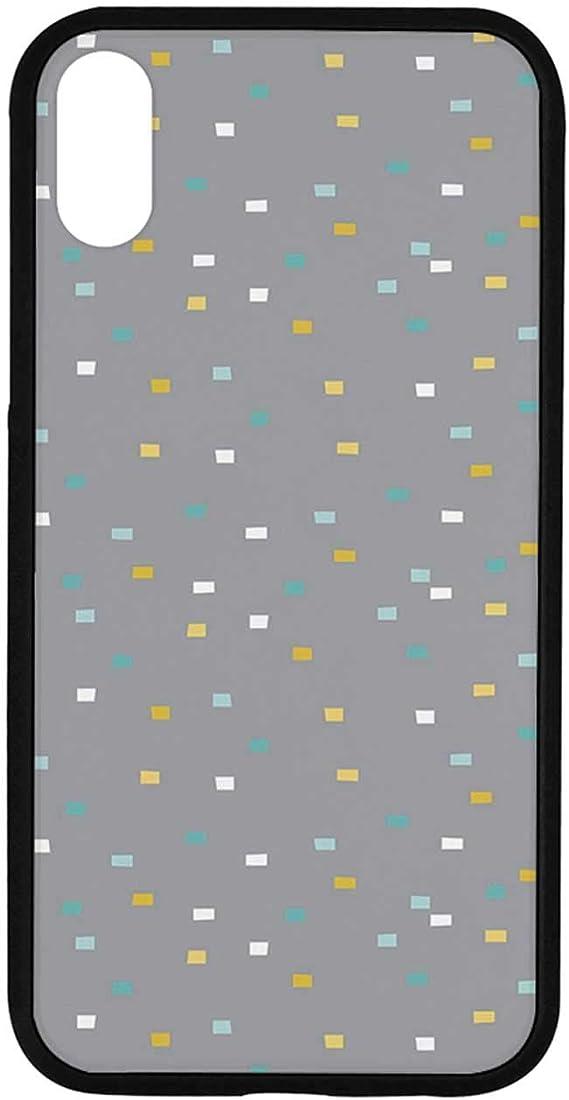 Amazon Com Geometric Rubber Phone Case Cute Little Squares Pale