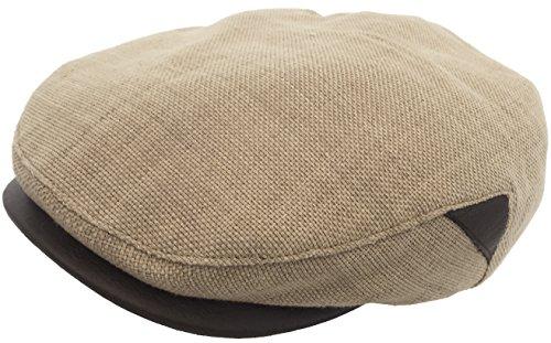 Henschel Linen Newsboy Cap Summer Ivy Hat (Beige, (Lined Linen Cap)