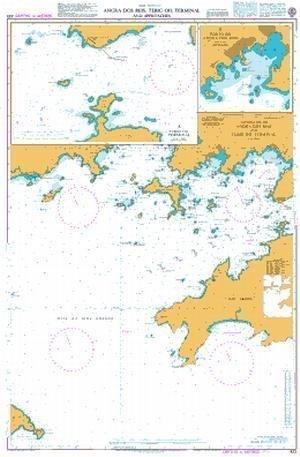Ba Diagramm 433  Angra DOS Reis und tebig Öl Terminal und nähert von UNITED KINGDOM Hydrographic Büro
